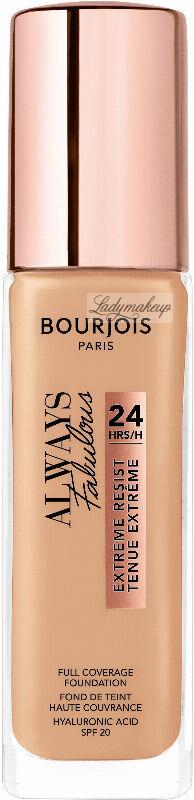 Bourjois - ALWAYS FABULOUS - 24H FULL COVERAGE FOUNDATION - Podkład kryjący - 30 ml - 420 - LIGHT SAND