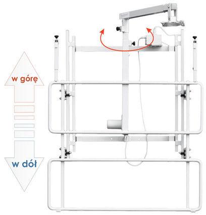 Uchwyt ścienny do tablicy i projektora z regulowaną wysokością - uVIS-EL RW100