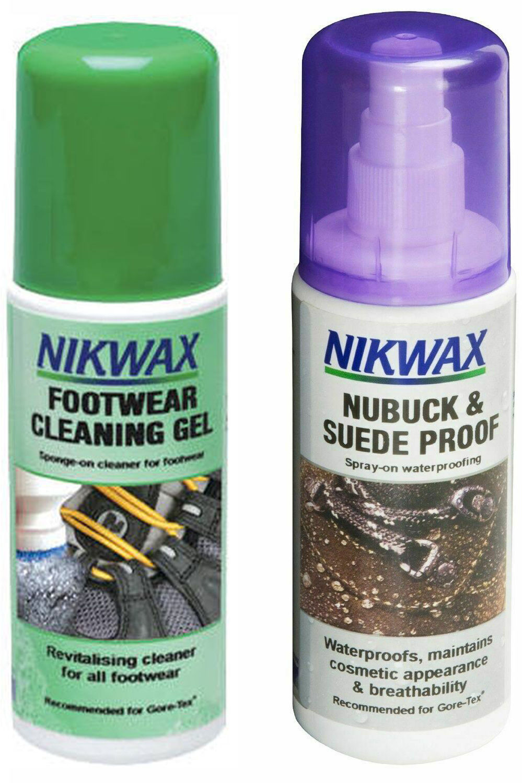 Żel czyszczący do obuwia/ Impregnat do nubuku NIKWAX zestaw 2x125ml