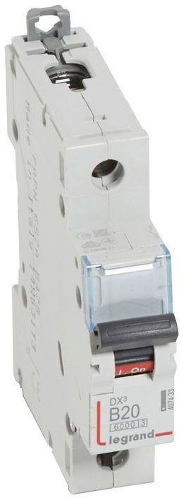 Wyłącznik nadprądowy 1P B 20A 6kA S301 DX3 407433