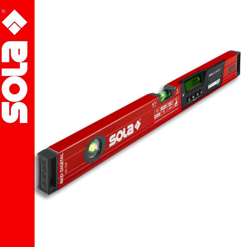 Poziomica aluminiowa elektroniczna z bluetooth 60cm RED 60 DIGITAL SOLA