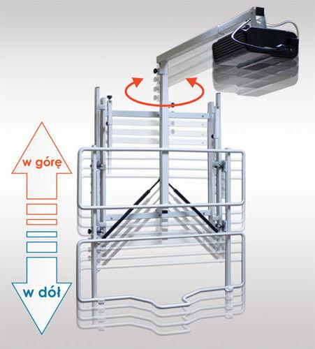 Uchwyt ścienny do tablicy i projektora z regulowaną wysokością - uVIS-RW100