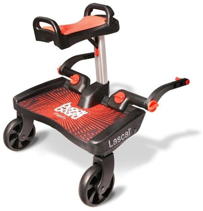 Lascal 02550 Buggy Board Maxi czerwony + siedzisko Saddle czerwony