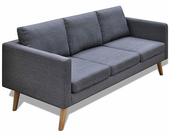 Sofa 3-osobowa Lavinia 3L - ciemny szary
