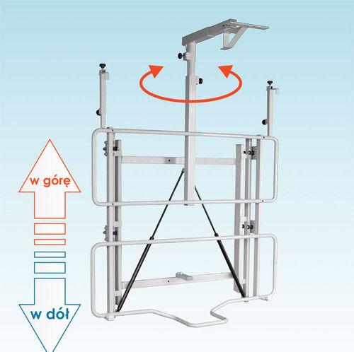 Uchwyt ścienny do tablicy i projektora z regulowaną wysokością - uVIS-RW50
