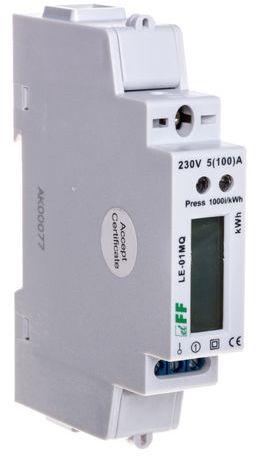 Licznik energii elektrycznej 1-fazowy 100A 230V z wyświetlaczem LCD RS485 rejestracja parametrów sieci LE-01MQ