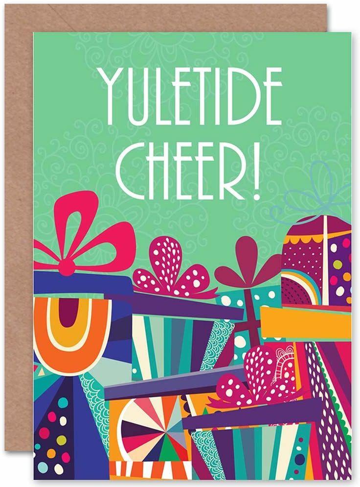 Wee Blue Coo Kartka świąteczna Boże Narodzenie prezenty świąteczne YULETIDE CHEER