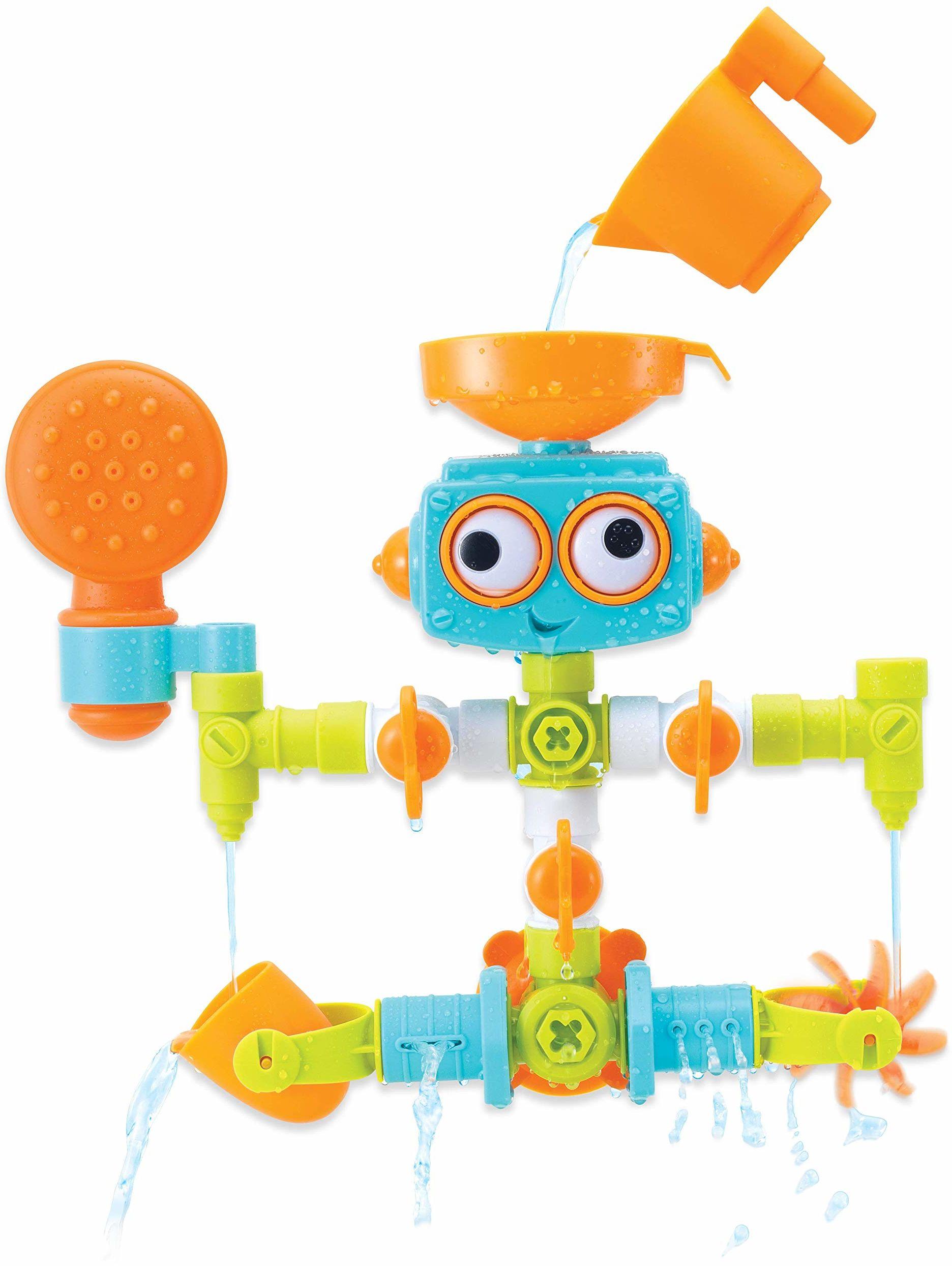 Sensory Plug & Play zestaw hydraulików  robot do wanny dla dzieci od 10 miesięcy  z 16 różnymi częściami do montażu  wielokolorowy