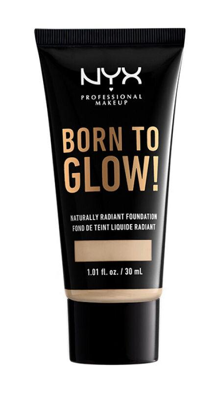 NYX Professional Makeup - BORN TO GLOW - NATURALLY RADIANT FOUNDATION - Rozświetlający podkład do twarzy - MEDIUM OLIVE