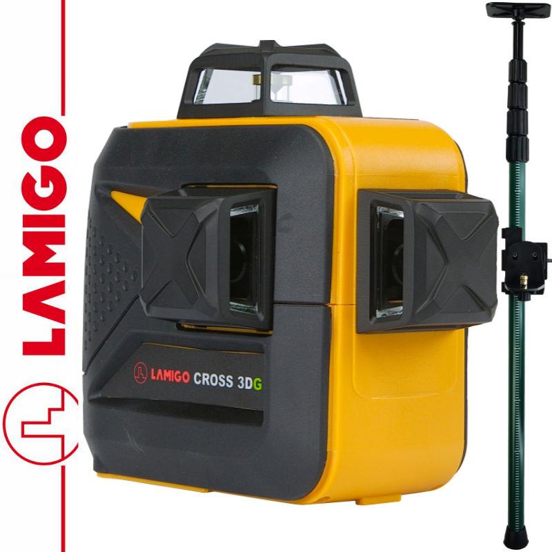 Laser krzyżowy CROSS 3DG LAMIGO + Tyczka 3,2m