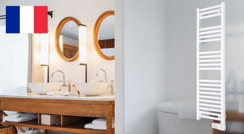 Grzejnik elektryczny łazienkowy, 400 x 1250 x 85, 500W