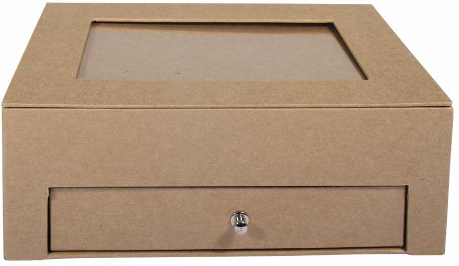 Rayher 67343521 karton z szufladą, FSC Rec.100%, moc, 20 x 15,3 x 7,5 cm, naturalny, normalny