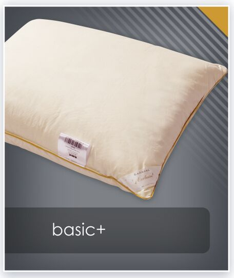 Poduszka puchowa BASIC+ AMZ trzykomorowa wyższa - puch 70%