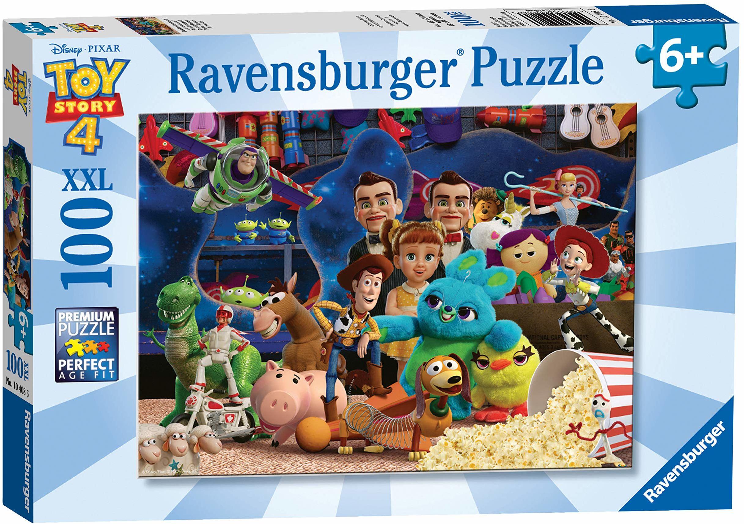 Ravensburger Disney Toy Story 4, 100 sztuk puzzle z bardzo dużymi elementami dla dzieci w wieku od 6 lat