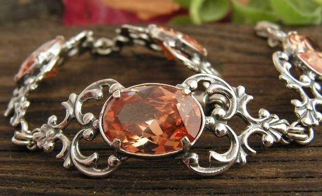 Julia - srebrna bransoletka z topazem
