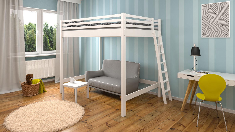 Dwuosobowe łóżko dla dzieci na antresoli Emilly