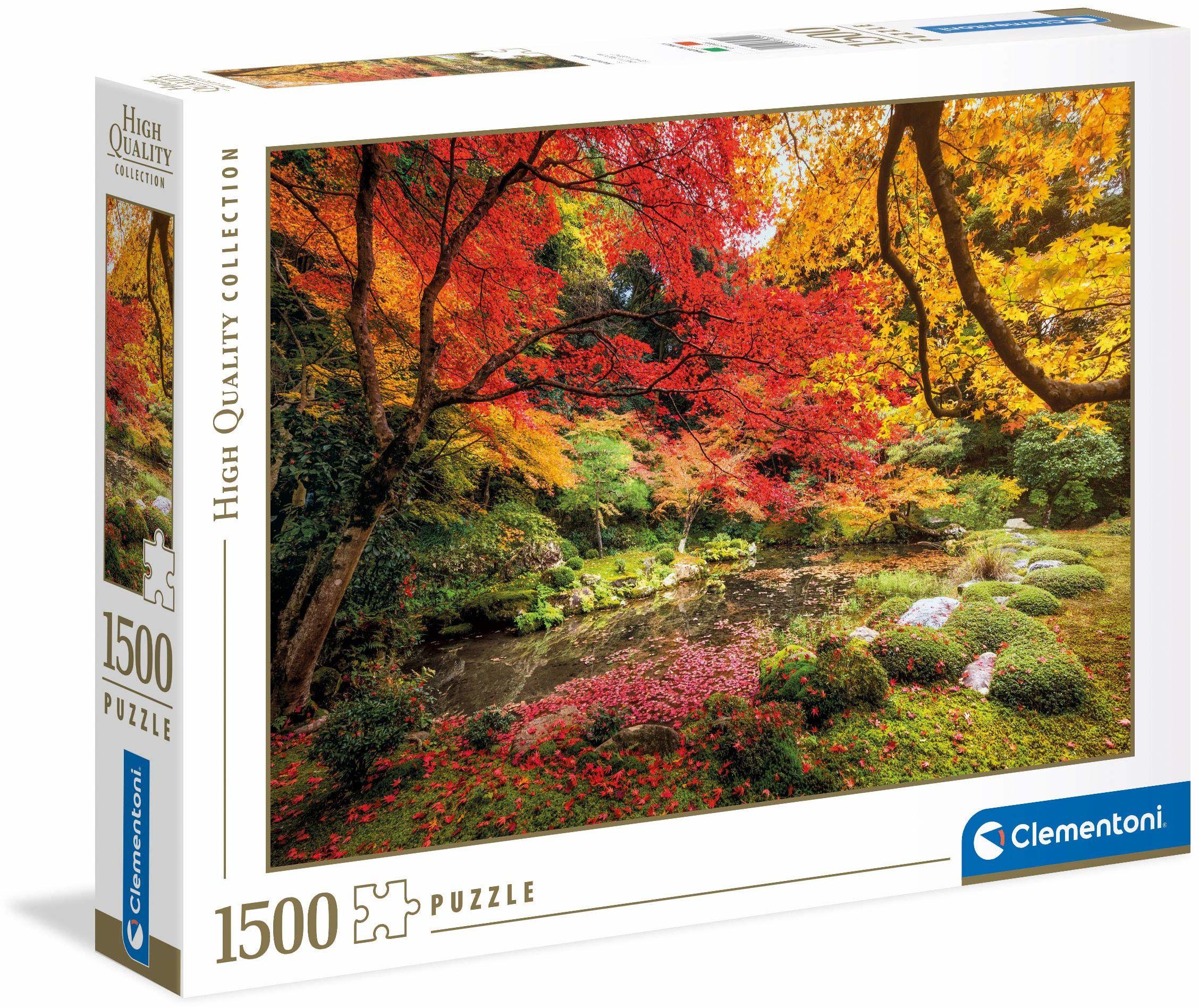 Clementoni 31820 jesienny park puzzle dla dzieci i dorosłych  1500 sztuk, wiek 10 lat plus wielokolorowe