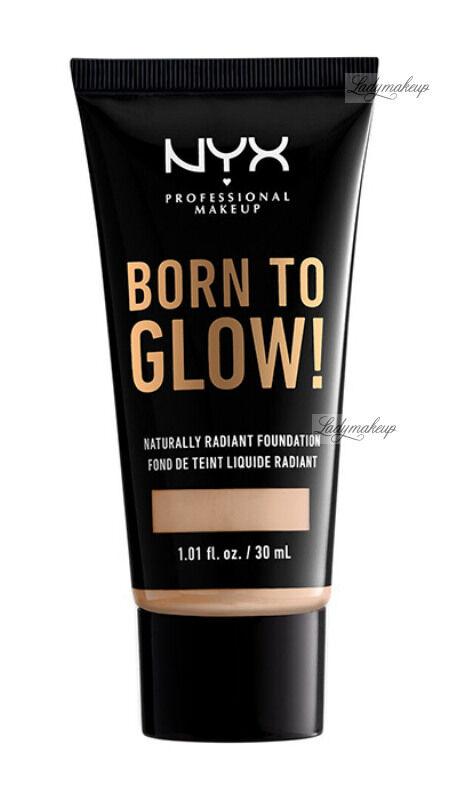 NYX Professional Makeup - BORN TO GLOW - NATURALLY RADIANT FOUNDATION - Rozświetlający podkład do twarzy - NEUTRAL TAN