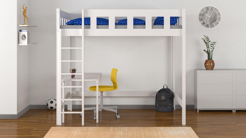 Dwuosobowe łóżko dla dzieci na antresoli Emma