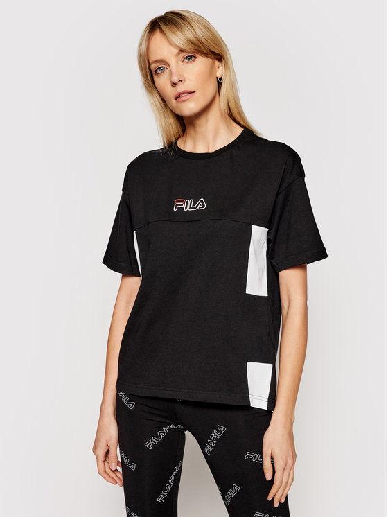 Fila T-Shirt Jaelle 683293 Czarny Regular Fit