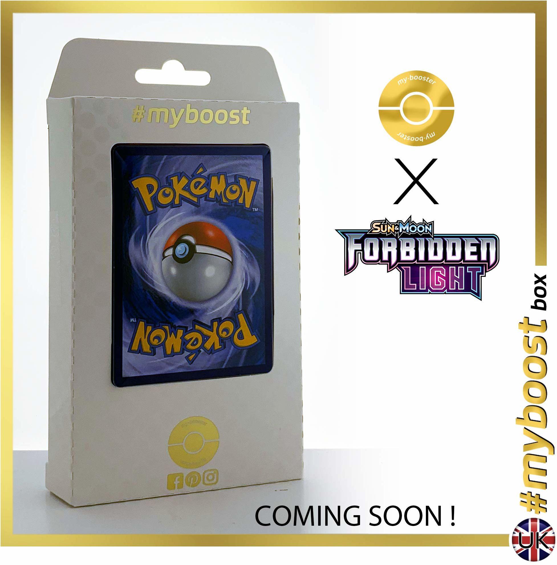 Delphox 17/131 Holo - #myboost X Sun & Moon 6 Zakazane światło - pudełko 10 angielskich kart pokemon