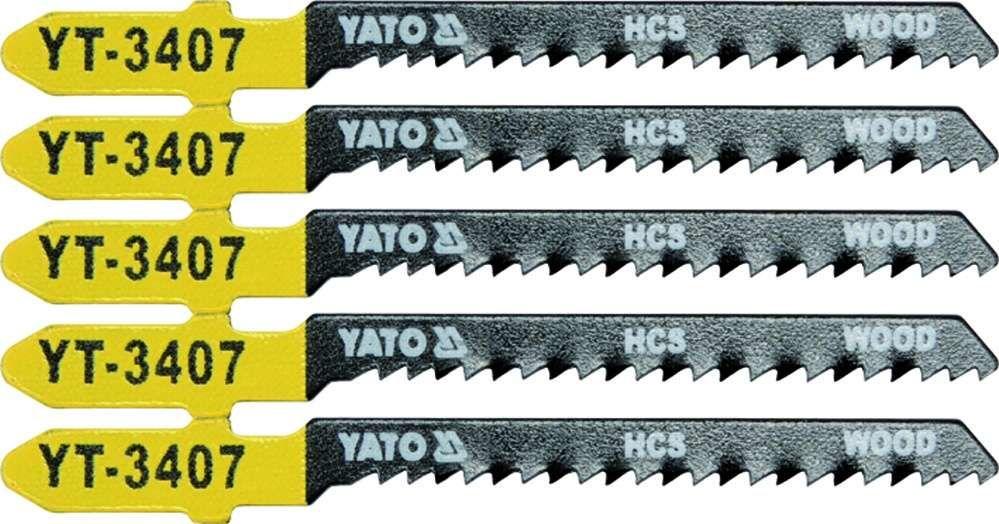 Brzeszczot do wyrzynarki typ t, 13 tpi, do drewna, 5 szt Yato YT-3407 - ZYSKAJ RABAT 30 ZŁ