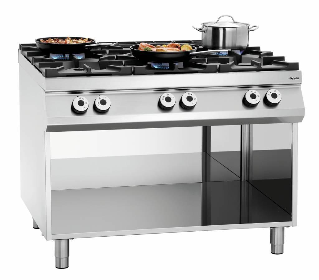 Bartscher Kuchnia gazowa 6 palnikowa 37500W - kod 2951121