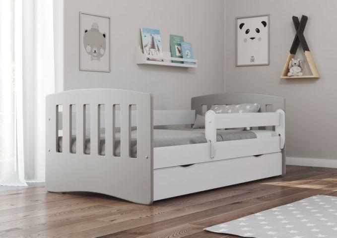 Łóżko dziecięce CLASSIC 1 MIX 160x80 szare