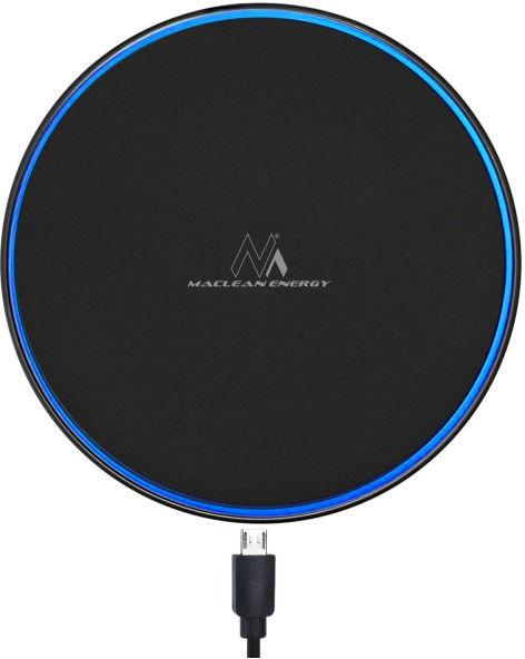 Ładowarka bezprzewodowa indukcyjna Qi biurkowa Maclean MCE250 B , Fast Charge, czarna