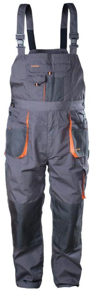 Spodnie ogrodniczki r. XXXL/60 szare CLASSIC NORDSTAR