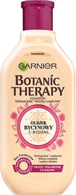 GARNIER - BOTANIC THERAPY - Wzmacniający szampon do włosów osłabionych i łamliwych - Olejek Rycynowy & Migdał - 250 ml