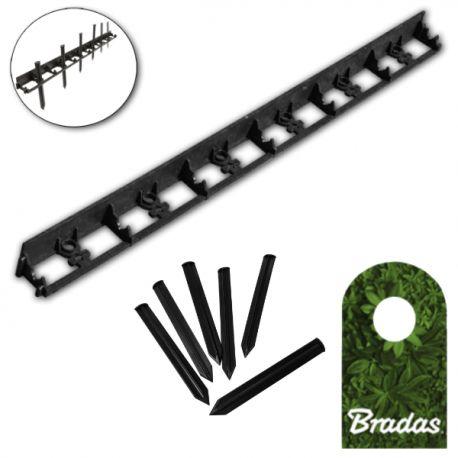 Obrzeże ogrodowe 45/1000mm TYP2 RIM-BORD-45 1m + 6 kołków mocujących Bradas 1813