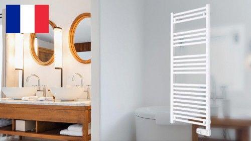 Grzejnik elektryczny łazienkowy, 480 x 1464 x 85, 750W