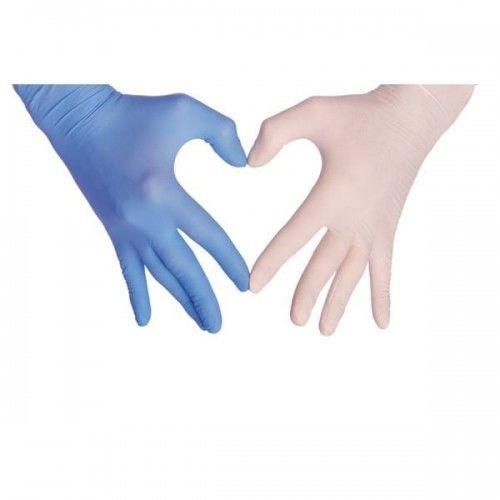 """Rękawiczki nitrylowe bezpudrowe rozmiar """"M"""" easyCARE 100 szt."""