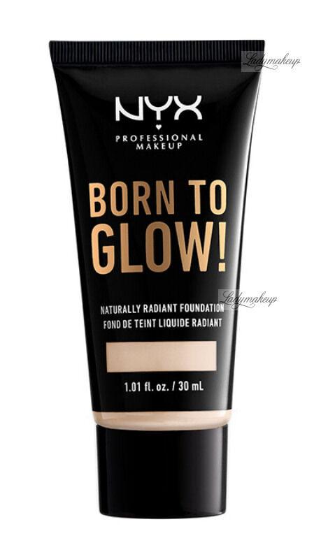 NYX Professional Makeup - BORN TO GLOW - NATURALLY RADIANT FOUNDATION - Rozświetlający podkład do twarzy - LIGHT IVORY