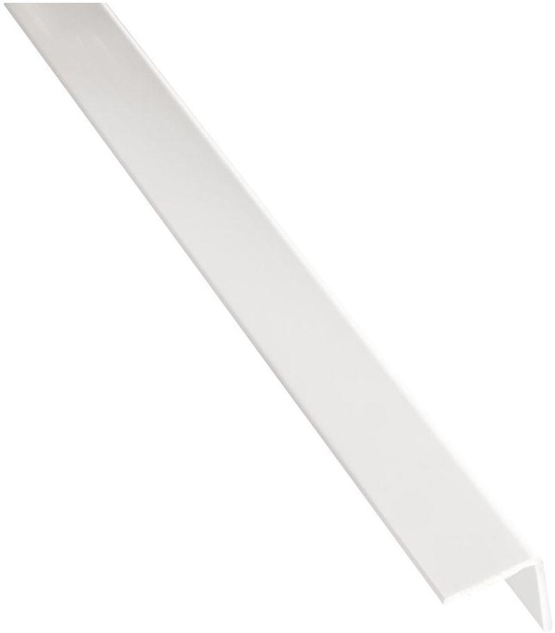 Kątownik PVC 2.6 m x 30 x 30 mm matowy biały