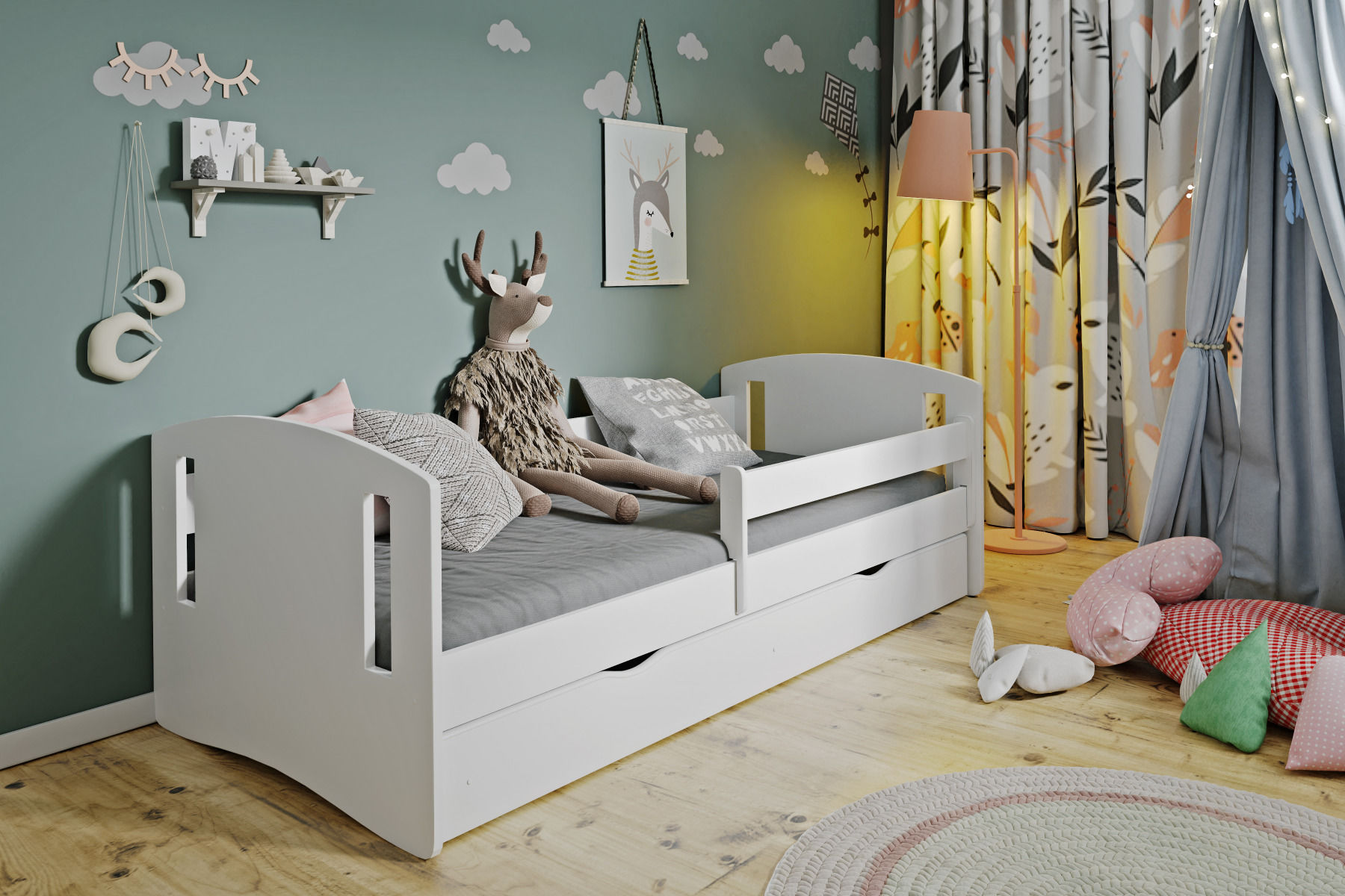 Łóżko dziecięce CLASSIC 2 160x80 białe