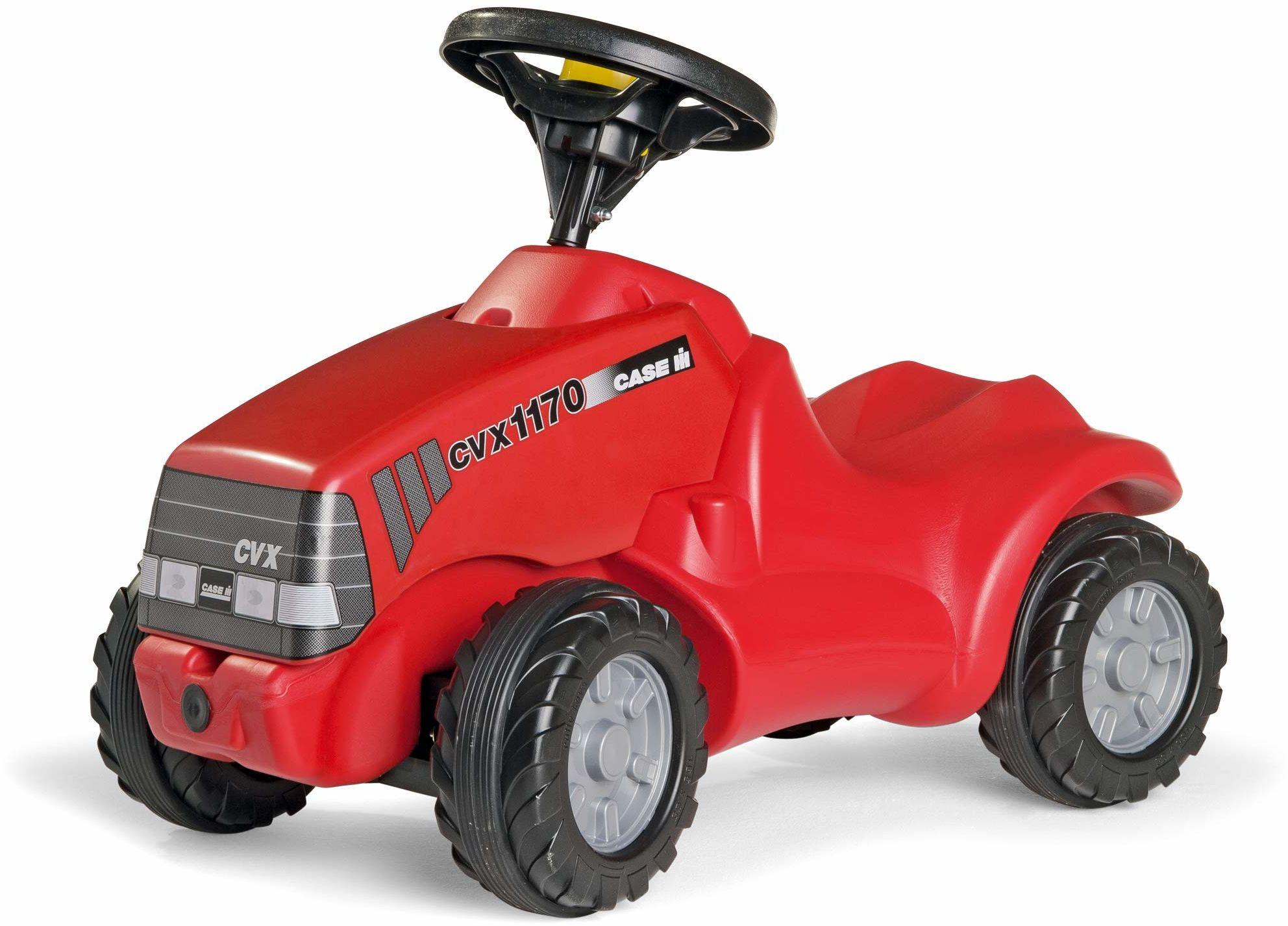 Rolly Toys RollyMinitrac Case CVX 1170 (dla dzieci w wieku od 1,5 do 4 lat, półka pod maską silnika, cicha opona) 132263
