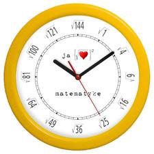 Zegar kolorowy pod pierwiastkiem