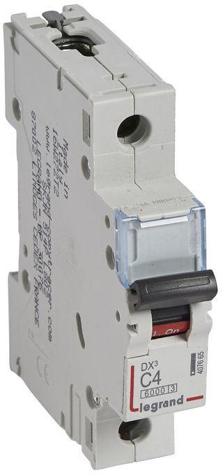 Wyłącznik nadprądowy 1P C 4A 6kA S301 DX3 407665