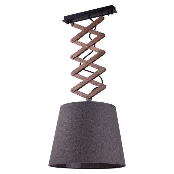 Lampa wisząca na wysięgniku harmonijka z abażurem TOSCA M szary śr. 39cm