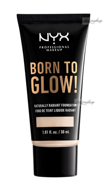 NYX Professional Makeup - BORN TO GLOW - NATURALLY RADIANT FOUNDATION - Rozświetlający podkład do twarzy - LIGHT