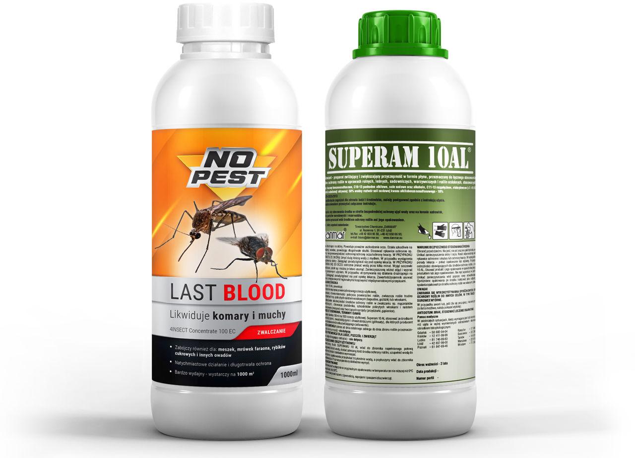 Oprysk na komary, kleszcze, muchy, mrówki Last Blood NO PEST  i utrwalacz oprysku 1l.