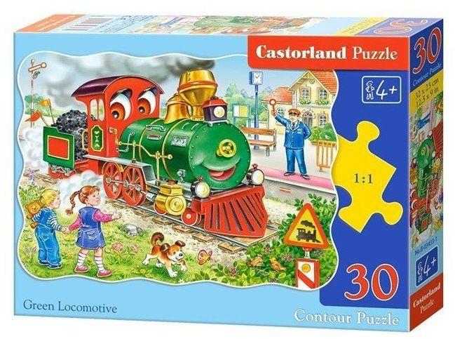 Puzzle 30 Green Locomotive CASTOR - Castorland