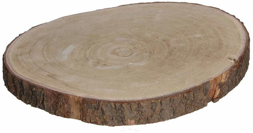 Edelman Talerz z drewna, jasnobrązowy, H4Xd34 cm, dekoracja bożonarodzeniowa, wielokolorowy, 8718861027945