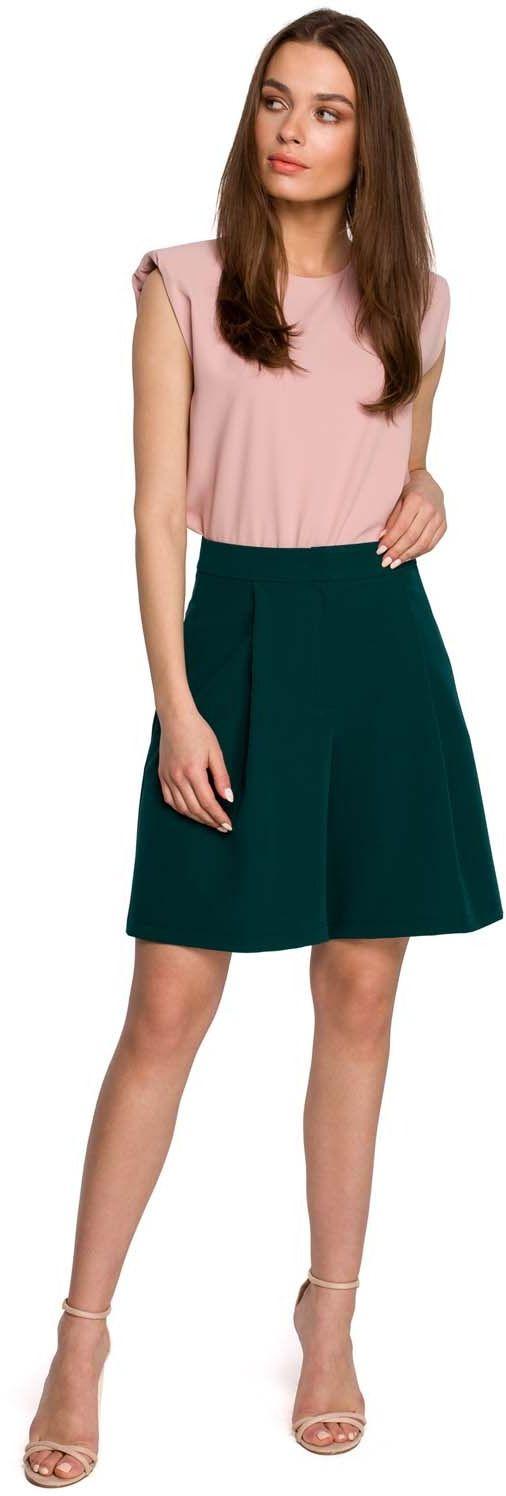 Krótkie spodnie z szerokimi nogawkami - zielony