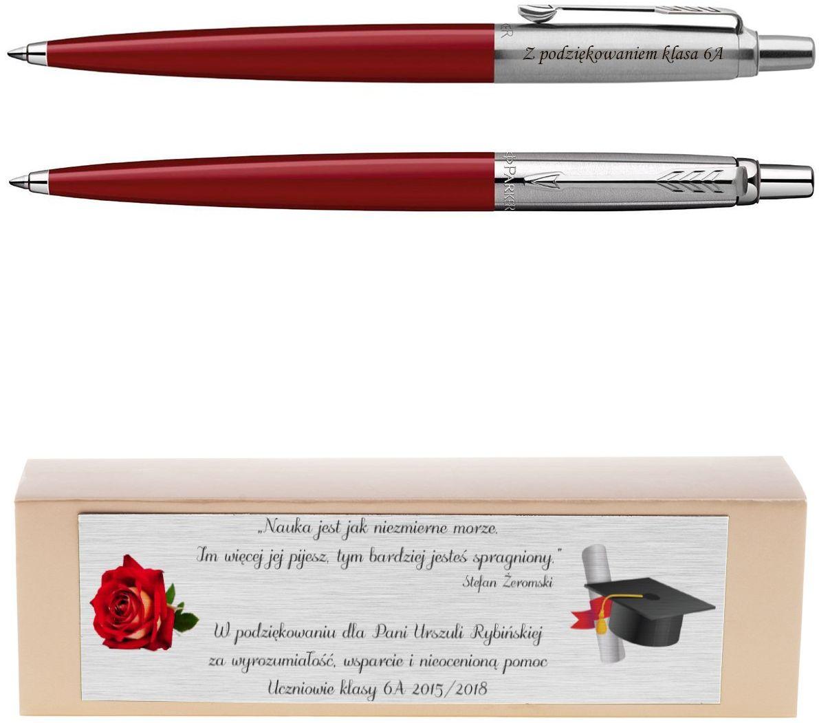Długopis Jotter Special Czerwony Prezent z Twoim Grawerem i Dedykacją