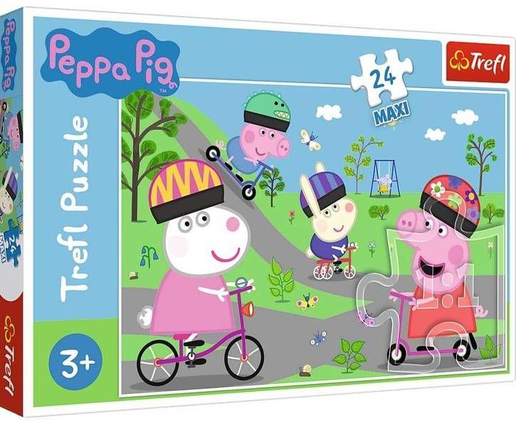 Puzzle 24 maxi Aktywny dzień Świnki Peppy TREFL