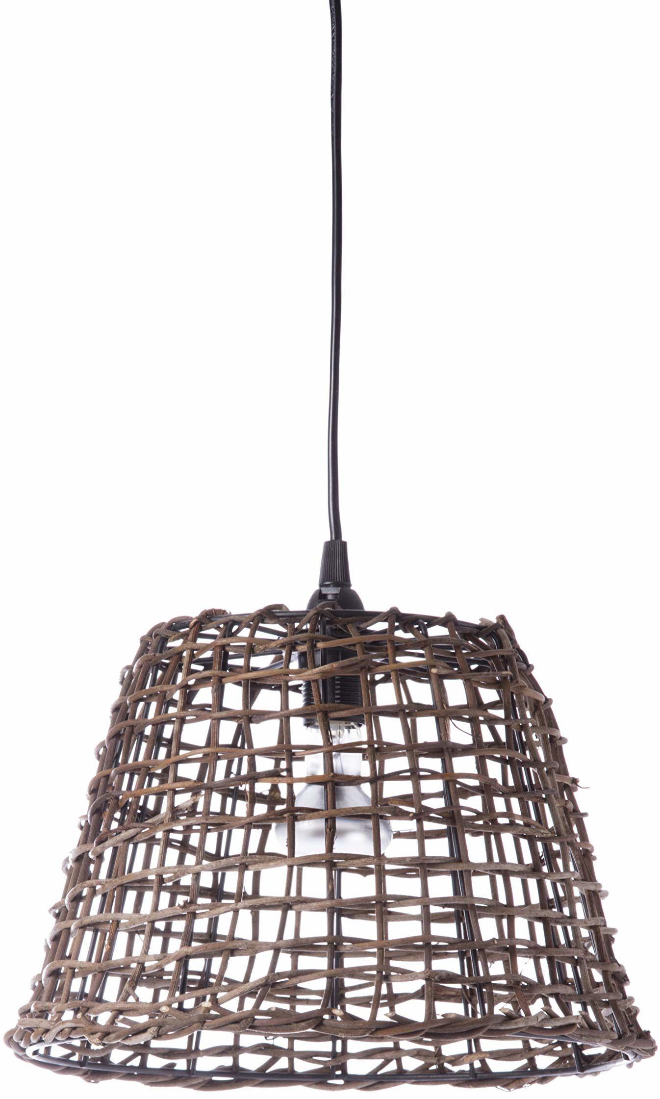Lussiol 250263 lampa wisząca, rattan, 60 W, brązowa, ø29 x wys. 25 cm