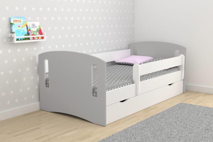 Łóżko dziecięce CLASSIC 2 MIX 180x80 szare